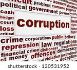 corruption political poster.... | Shutterstock . vector #120531952