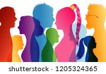 young people smiling. students... | Shutterstock .eps vector #1205324365
