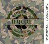 injure camouflaged emblem | Shutterstock .eps vector #1205324842