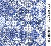 vector seamless tiles... | Shutterstock .eps vector #1205335735