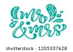 mr and mrs turquoise... | Shutterstock .eps vector #1205337628