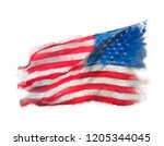 Flag Of America Watercolor On...