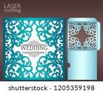 die laser cut wedding card... | Shutterstock .eps vector #1205359198