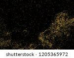 gold glitter texture isolated... | Shutterstock . vector #1205365972