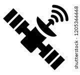 satellite dish for... | Shutterstock .eps vector #1205366668