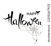 happy halloween banner on a...   Shutterstock .eps vector #1205367925