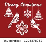 christmas card. silhouette for... | Shutterstock .eps vector #1205378752
