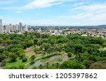 Aerial view of the zoo in Goiania, Goias, Brazil