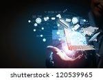 modern wireless technology and... | Shutterstock . vector #120539965