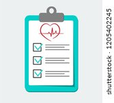 clip board with hospital...   Shutterstock .eps vector #1205402245