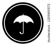 umbrella sign icon vector...