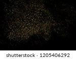 gold glitter texture isolated... | Shutterstock . vector #1205406292