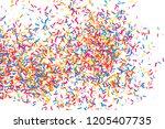 colorful explosion of confetti. ... | Shutterstock . vector #1205407735