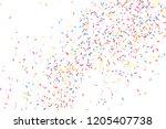 colorful explosion of confetti. ... | Shutterstock . vector #1205407738