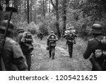 re enactors dressed as german... | Shutterstock . vector #1205421625