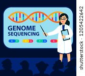 genome sequencing concept.... | Shutterstock .eps vector #1205422642