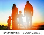 silhouette family  including... | Shutterstock . vector #1205423518