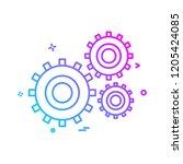 labour tools icon design vector | Shutterstock .eps vector #1205424085