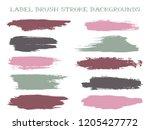 scribble label brush stroke... | Shutterstock .eps vector #1205427772