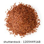 bunch of red rice on a white.... | Shutterstock . vector #1205449168