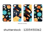 mobile phone case design.... | Shutterstock .eps vector #1205450362