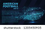 american football made up of... | Shutterstock .eps vector #1205450935