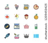 fruit icon set. vector set... | Shutterstock .eps vector #1205453425