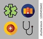 physician icon set. vector set... | Shutterstock .eps vector #1205453602