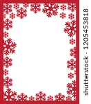abstract design with snowflakes ... | Shutterstock .eps vector #1205453818