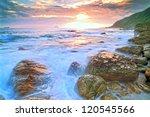 sunset by the beach   Shutterstock . vector #120545566