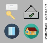 entrance icon set. vector set... | Shutterstock .eps vector #1205466775