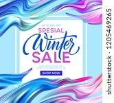 winter sale lettering banner... | Shutterstock .eps vector #1205469265