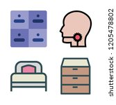 bedroom icon set. vector set... | Shutterstock .eps vector #1205478802