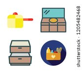 various icon set. vector set... | Shutterstock .eps vector #1205482468