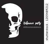 scary halloween illustration.... | Shutterstock .eps vector #1205489212