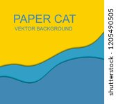 3d papercut layers in gradient... | Shutterstock .eps vector #1205490505