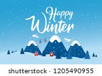 winter holidays in the... | Shutterstock .eps vector #1205490955