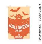 isolated light halloween... | Shutterstock .eps vector #1205492875