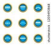 roadbed icons set. flat set of... | Shutterstock .eps vector #1205493868