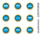 roadbed icons set. flat set of...   Shutterstock .eps vector #1205493868