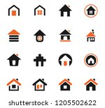 home icon set for web sites and ... | Shutterstock .eps vector #1205502622