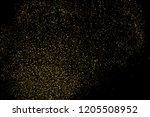 gold glitter texture isolated... | Shutterstock . vector #1205508952