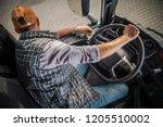 learning truck driving cdl.... | Shutterstock . vector #1205510002