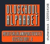 vintage 3d condensed bold... | Shutterstock .eps vector #1205514148