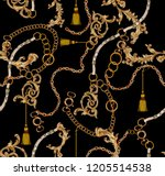 chain  baroque  belt and tassel ... | Shutterstock . vector #1205514538