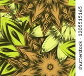 seamless floral background.... | Shutterstock .eps vector #1205515165