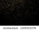gold glitter texture isolated... | Shutterstock . vector #1205522278