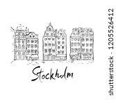 illustration of buildings in... | Shutterstock .eps vector #1205526412