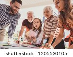 make choice. attentive mature...   Shutterstock . vector #1205530105