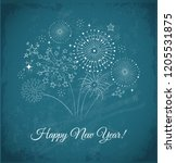 new year greeting card with... | Shutterstock .eps vector #1205531875